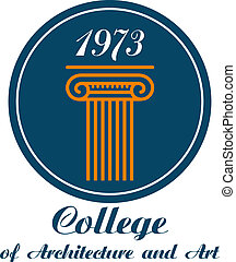 College of Architecture and Art emblem with the text below a...