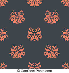 Dainty vintage damask style pattern