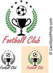 Football Club Championship emblem or icon with a foliate...