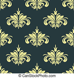 Arabesque damask style seamless background pattern