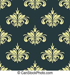 Arabesque damask style seamless background pattern