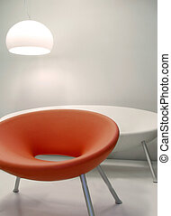 Modern interior design - Interior retro design chairs with...