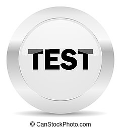 test silver glossy web icon