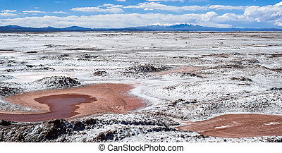 Northwest Argentina - Salinas Grandes Desert Landscape -...
