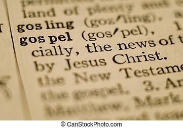 evangelio, definición