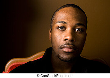 Handsome black man - Portrait of a handsome young black man...