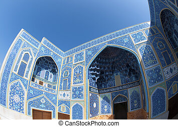 Mosque in Iran - Sheikh Lotf Allah Mosque in Isfahan in Iran...