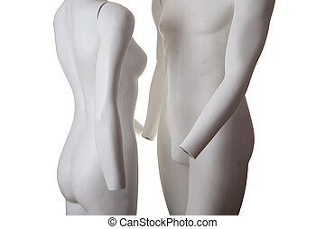 Manequin couple - Love - Male and female couple, manequins...
