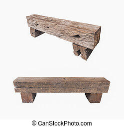 railroad ties bench - Bench made of old railroad ties...