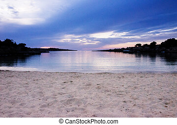 beach sunset in ibiza