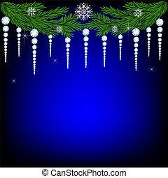Christmas fir twig