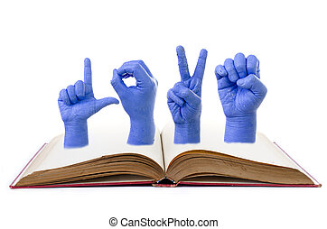 Finger Spelling the Alphabet in American Sign Language ASL...