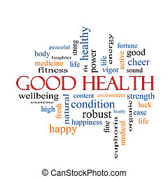 Good Health Word Cloud Concept with great terms such as...