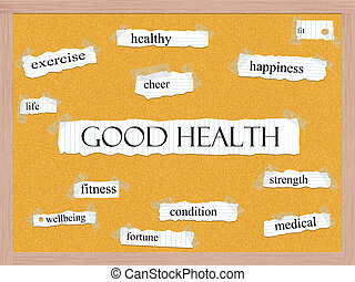 Good Health Corkboard Word Concept