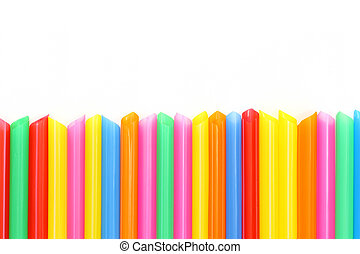 Drinking straw colorful abstract background