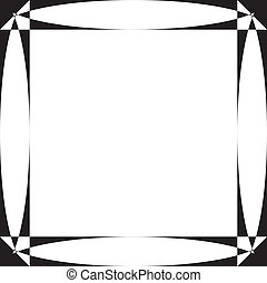 Pseudo parabolic screen frame on transparency background...