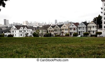 Alamo Square is a residential neighborhood and park in San...