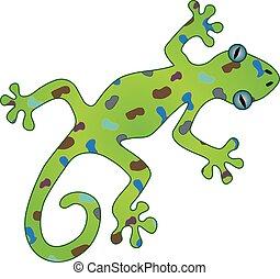 Gecko - An illustration of a gecko