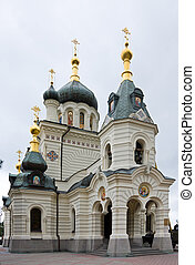 Church of the Resurrection in Foros near Yalta in Crimea,...