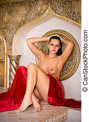 naked woman  turkish bath