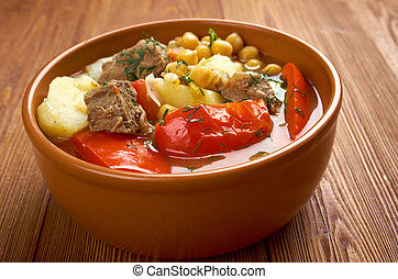 Bozbash -  Iranian, Azerbaijan,Middle Eastern mutton soup