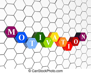 motivation in colour hexahedrons in cellular structure