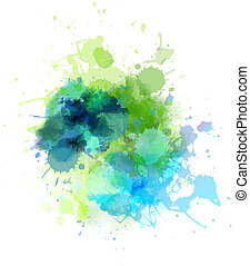 Multicolored blot - Multicolored watercolor splash blot