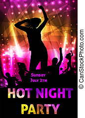 Disco party poster template - Poster template for disco...