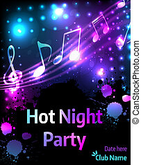 Music poster template for party - Poster template for disco...