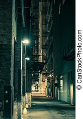 Dark Chicago Alley - Dark and Spooky Chicago Alley in...