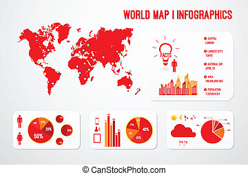 World Map Infographics