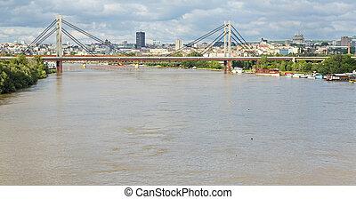Belgrade Sava River - Belgrade cityscape from Sava river