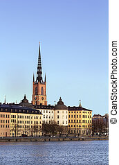 Riddarholmen, Stockholm - view of Riddarholmen from City...