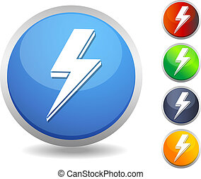 Icon - Lightening Bolt - Illustrati - This illustration is...