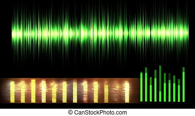 Audio Equalizer Loopable - Seamless loop of Random Moving...