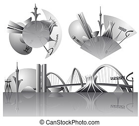 Brasilia city skylines - Vector illustration of the Brasilia...
