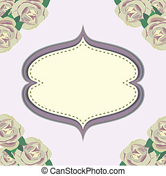 Frame with flower in purple background