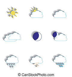 Set of weather icons for your design