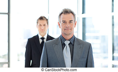 Senior businessman looking at the camera