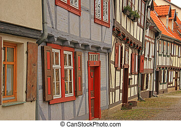 Half timbered houses in Quedlinburg, Saxony-Anhalt, Germany