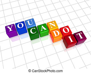 you can do it in colour - 3d colour cubes with text - you...