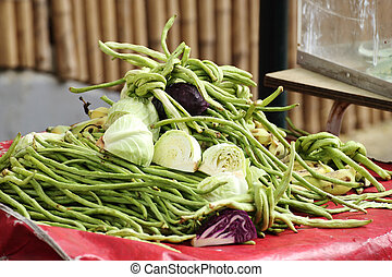 Vegetable on the table forsale in market