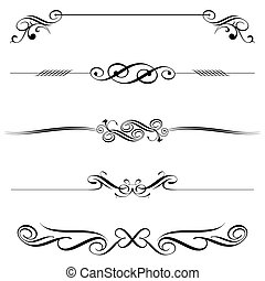 Horizontal Elements Decoration - Vector file of horizontal...