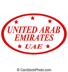 United Arab Emirates-stamp - Rubber stamp with text United...