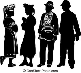 people in national costume