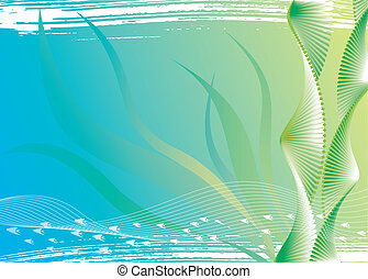 Under Water And Seaweed - Vector file of under water and...