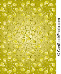 Golden Color Floral Pattern