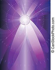 Visionspace - Purple color futuristic background vector...