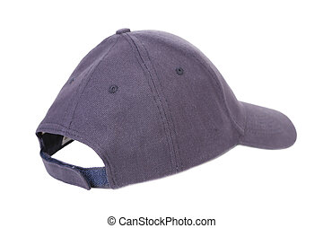 Close up of gray cap. Isolated on a white background.
