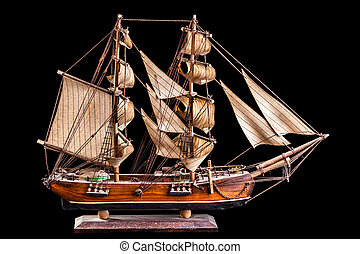 Barque - A barque is a sailing vessel with three masts...